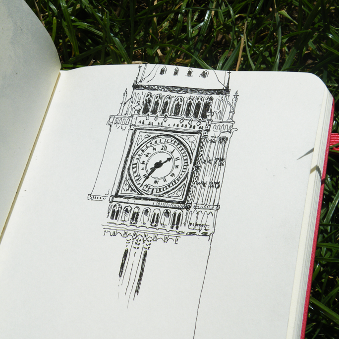Croquis Big Ben par Audrey Dugas du Villard