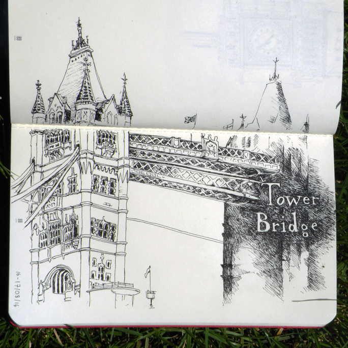 Croquis Tower Bridge de Daudrouse (Audrey Dugas du Villard)