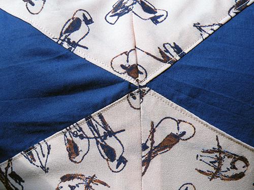 zoom fermeture éclair robe centaurée