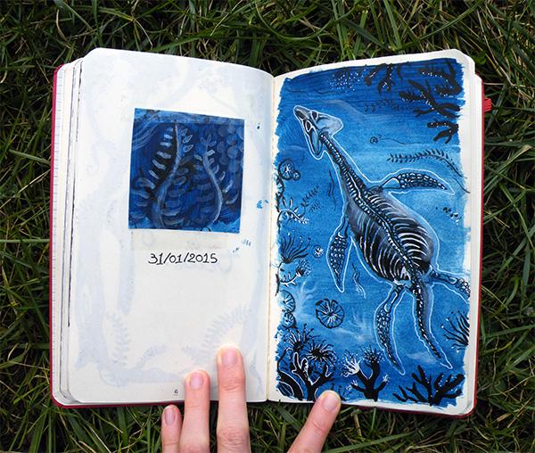 plesiosaure par Audrey Dugas du Villard