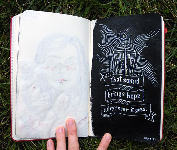 illustration du Tardis par Audrey Dugas du Villard