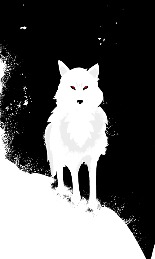 Details Ghost, loup de John Snow de Game of thrones par Audrey Dugas du Villard