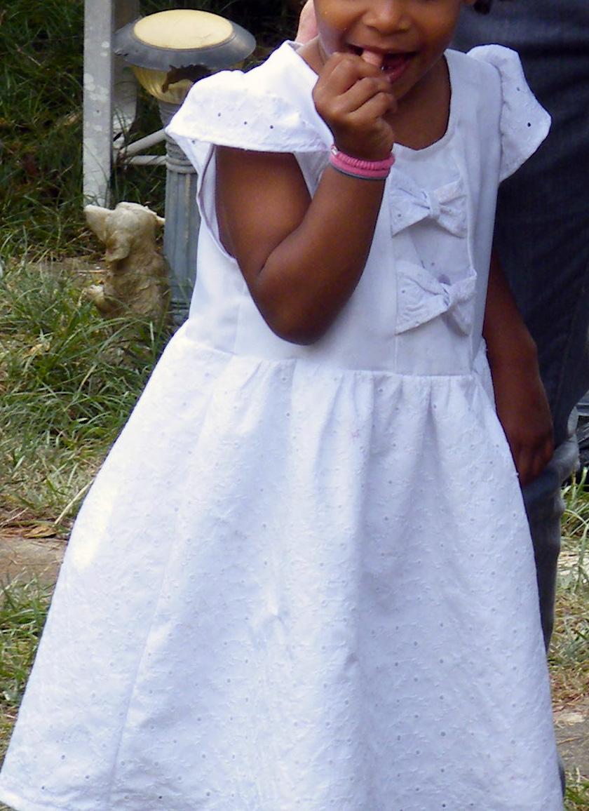 robe de baptême faite maison par Audrey Dugas du Villard