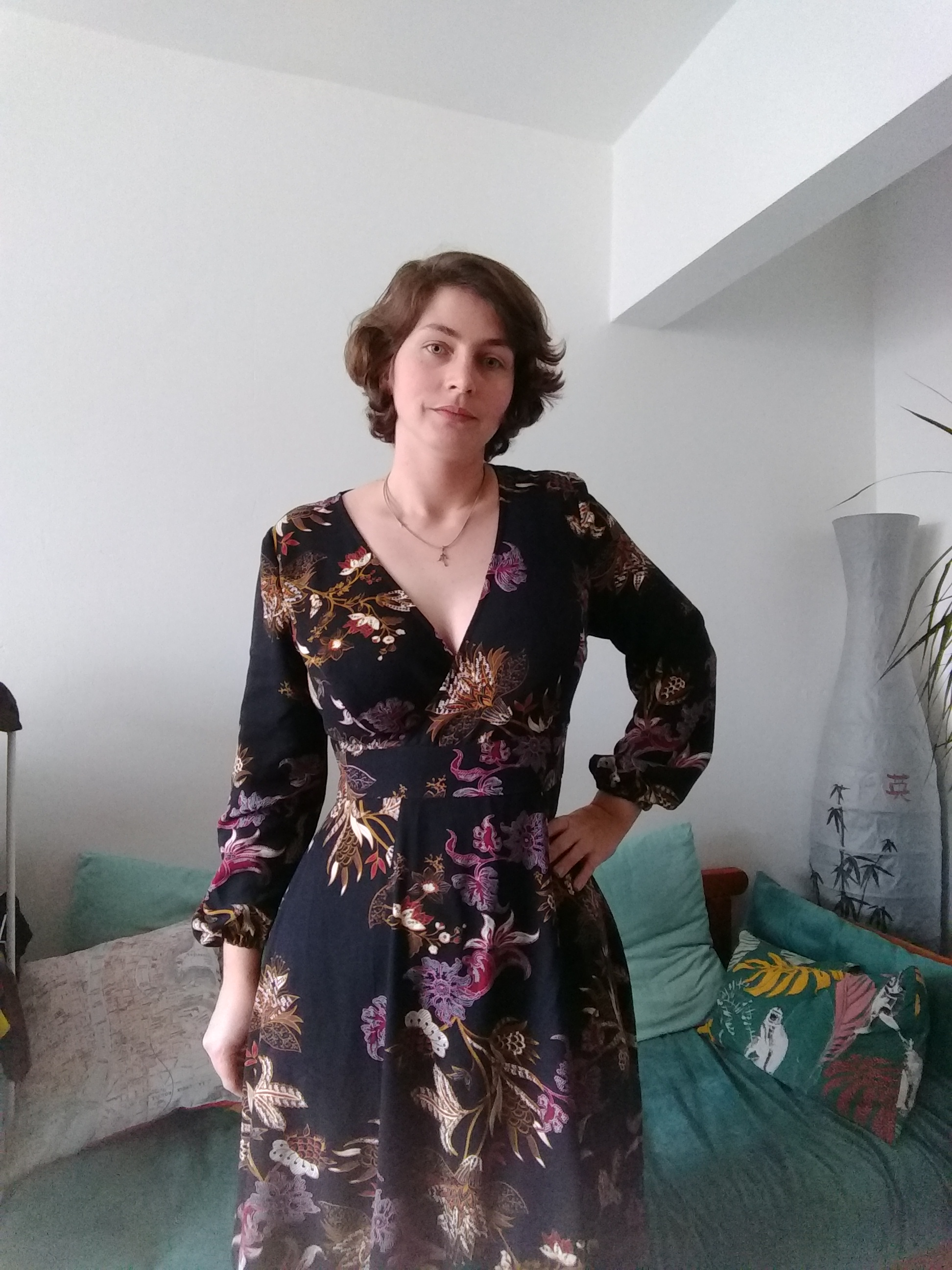 Robe magnolia cousue par Audrey Dugas du Villard