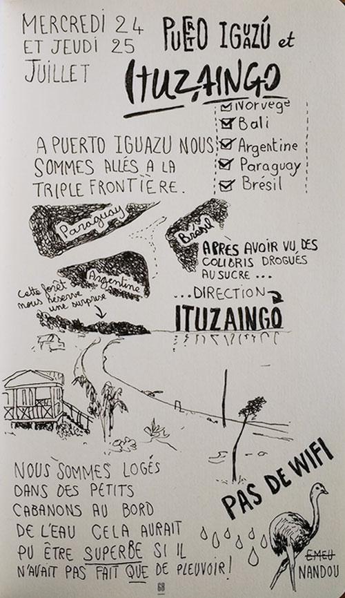 Puerto Iguazu et Ituzaingo