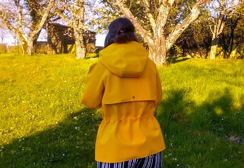 ciré jaune cousu main